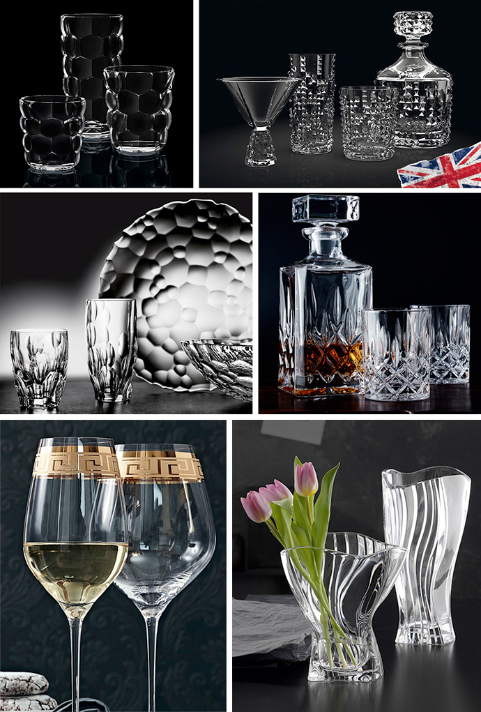 examples of Nachtmann glassware
