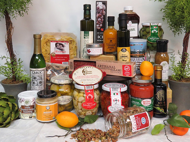 a large selection of gourmet products